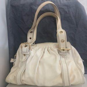 Miu Miu ivory white leather satchel bag